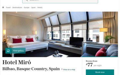 Hotel Miró en The Telegraph